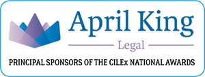 April King Legal - Principal Sponsors of the CILEx National Awards