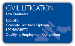 Civil Litigation - LLB GDL Law Graduate - CILEx Fast-track Qualification