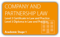 Company Law and Partnership Law - CILEx Certificate - Diploma - Level 3
