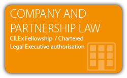 Company Law and Partnership Law - Fellowship - Chartered Legal Executive