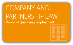 Company Law and-Partnership Law - Period of Qualifying Employment