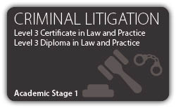 Criminal Litigation - CILEx Certificate - Diploma - Level 3