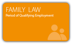 Family Law - Period of Qualifying Employment
