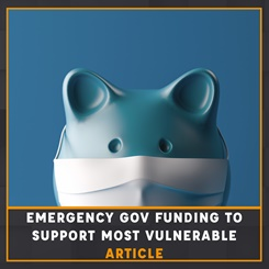 Emergency Government funding to support most vulnerable article
