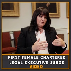 First Female Chartered Legal Executive Judge Video