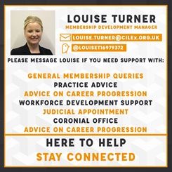 Louise Turner @CILEx Contact Card
