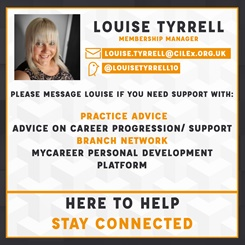 Louise Tyrrell @ CILEx Contact Card